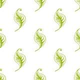 Grün lässt nahtloses Muster Stockbild
