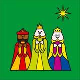 Grün mit drei Königen Lizenzfreies Stockfoto
