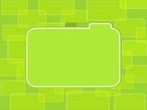 Grün mit Laschen versehener Kennsatzhintergrund Lizenzfreies Stockfoto