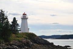 Grün-Punkt-Leuchtturm LEtete-Durchgangs-Licht Stockfotos