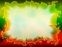 Grün - rotes Feld mit unscharfem Hintergrund Stockfotografie