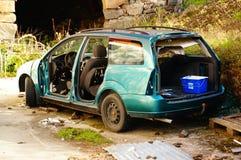 Grün ruinierte Auto, Norwegen Lizenzfreies Stockfoto