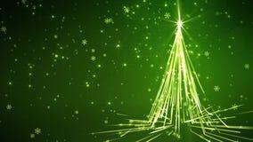 Grün streift Weihnachtsbaum vektor abbildung