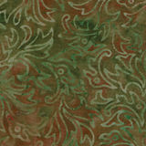 Grün und Brown-Batik-Muster Stockbilder