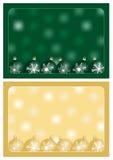 Grün- und Goldweihnachtsgrüße Stockfoto