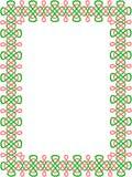 Grün-und-roter keltischer Rand 8 Stockfotos
