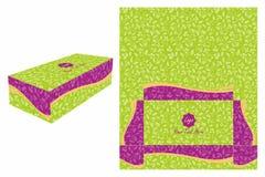 Grün und Violet Cake Box Lizenzfreies Stockfoto