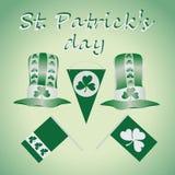 Grün-und-weißer Satz für St- Patrick` s Tag lizenzfreie abbildung