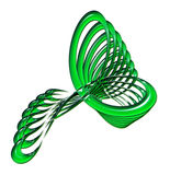 Grün-verdrehte abstrakte Auslegung Lizenzfreies Stockbild