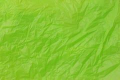 Grün zerknittertes Papier Stockfoto