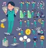 Grünabnutzung Flachmen_money der chirurgischen Operation Lizenzfreie Stockfotos