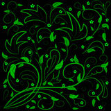 Grünblätter mit abstrakten Strudeln Stockbild