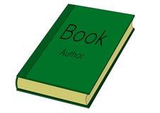 Grünbuch mit gelbem Papier Lizenzfreie Stockfotos