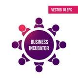 Gründerzentrumikone Gründerzentrumsymbolentwurf von der Unternehmergeistsammlung Kann für Netz und Mobile verwendet werden stock abbildung