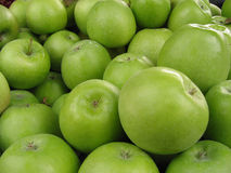 Grüne Äpfel. Stockfotos