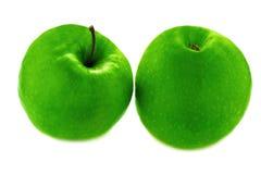 Grüne Äpfel. Lizenzfreie Stockfotos
