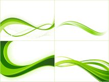 Grüne Ökologiewellen-Hintergrundschablonen Lizenzfreies Stockfoto