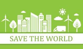 Grüne ökologische Stadt Stockbild