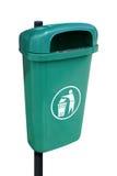 Grüne Abfalldose Stockbild