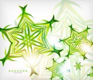 Grüne abstrakte eco Welle wirbelt mit Lichtern Stockbilder