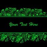 Grüne abstrakte Grenzen des Streifens Stockbilder