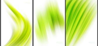 Grüne abstrakte Hintergrundspitzentechnologiesammlung Stock Abbildung