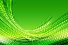 Grüne abstrakte Kurven Stockfotografie