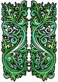 Grüne abstrakte Tapete Stockfotografie
