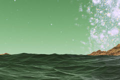 Grüne Abstraktion lizenzfreie abbildung
