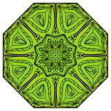 Grüne acht-spitze Mandala Lizenzfreie Stockfotos