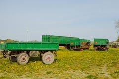 Grüne Ackerwagen Lizenzfreies Stockfoto