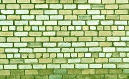 Grüne alte Backsteinmauerbeschaffenheit Lizenzfreie Stockfotos