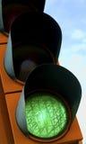 Grüne Ampel Lizenzfreies Stockfoto