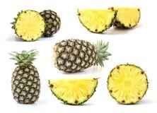 Grüne Ananas lokalisiert Stockbilder