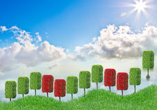 Grüne Anlagestrategie Stockbild