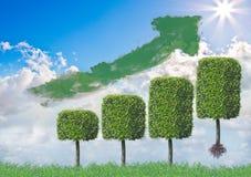 Grüne Anlagestrategie Vektor Abbildung