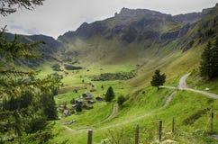 Grüne Ansicht von Allmendhubel die Schweiz Stockfotografie