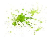 Grüne Anstrich Beschaffenheit mit Spritzen Lizenzfreies Stockbild