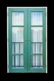 Grüne antike Türen mit Toskana-Art Stockfotos