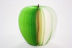 Grüne Apfelanmerkung Stockfoto