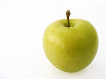 Grüne Apfelbilder für Fruchtsaftverpackung Stockbild