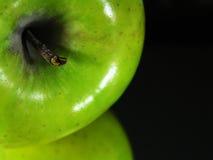 Grüne Apfelreflexion stockbilder