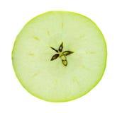 Grüne Apple-Scheibe Stockfotos