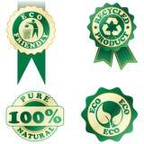 Grüne Aufkleber Lizenzfreies Stockbild