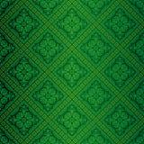 Grüne aufwändige Tapete stock abbildung
