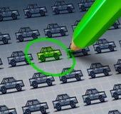 Grüne Auto-Wahl Stockfotografie