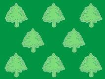 Grüne Bäume auf dunklem Hintergrund lizenzfreie abbildung