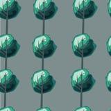 Grüne Bäume des Musters Stockfotos