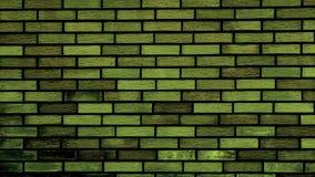 Grüne Backsteinmauer Lizenzfreie Stockfotografie