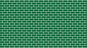 Grüne Backsteinmauer des Vektors (Maurerarbeit) Stockfoto